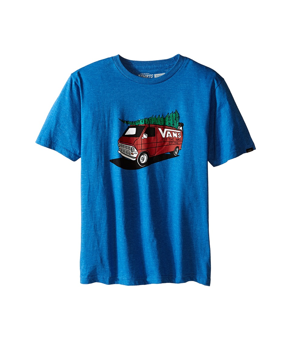 Vans Kids - Family Christmas (Big Kids) (Royal Heather) Boy's T Shirt