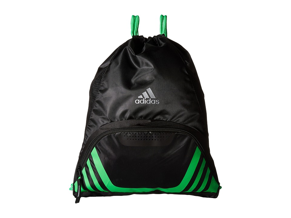 adidas - Team Speed II Sackpack (Black/Shock Lime) Backpack Bags