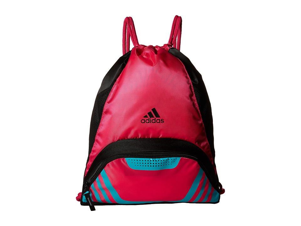 adidas - Team Speed II Sackpack (Shock Pink/Shock Mint) Bags