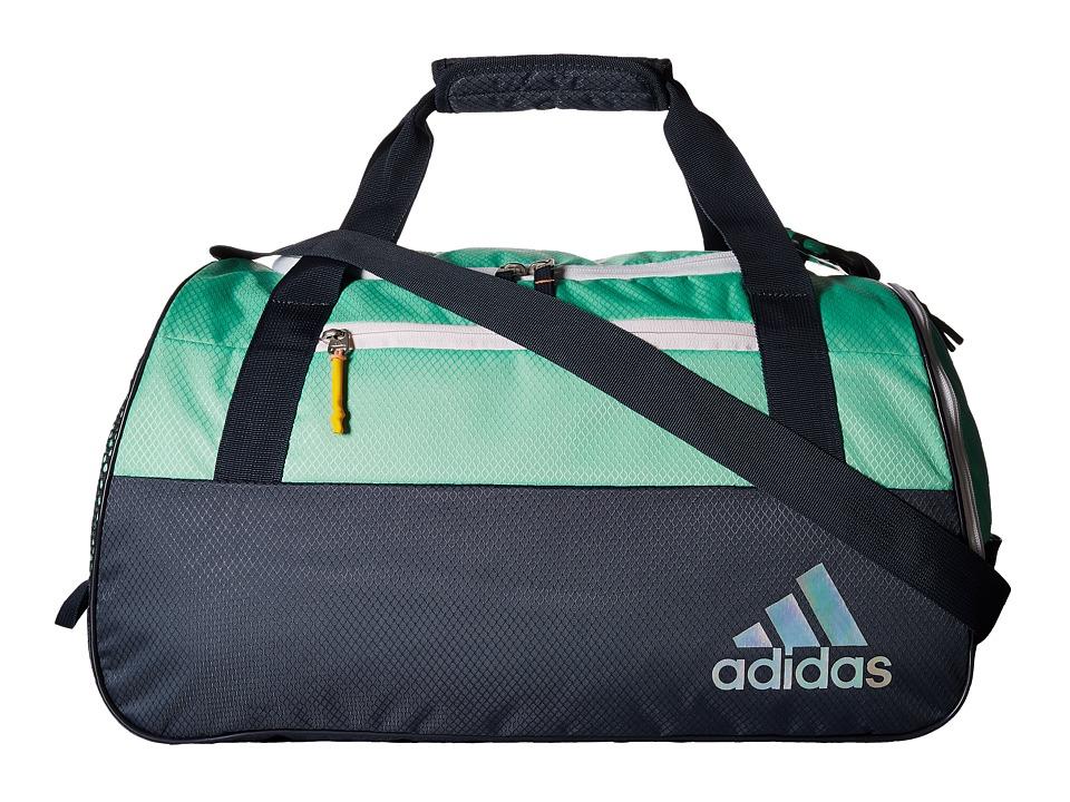 adidas - Squad III Duffel (Green Glow/Deepest Space/White/Sun Glow) Duffel Bags