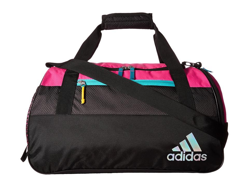 adidas - Squad III Duffel (Shock Pink/Black/Shock Pink/Shock Green) Duffel Bags