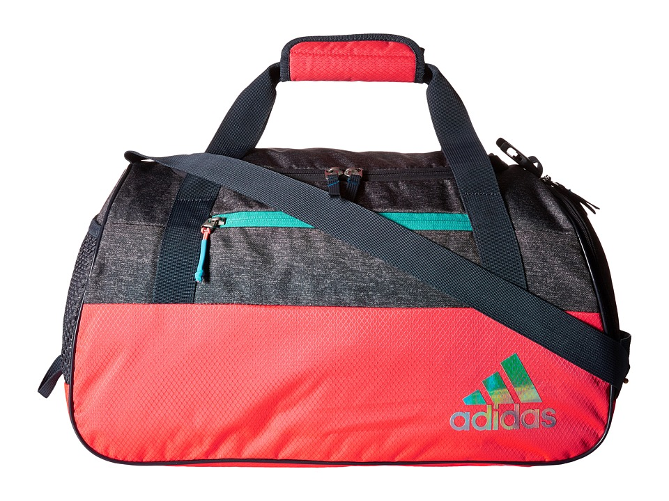 adidas - Squad III Duffel (Shock Red/Grey Heather Deepest Space/Shock Green) Duffel Bags
