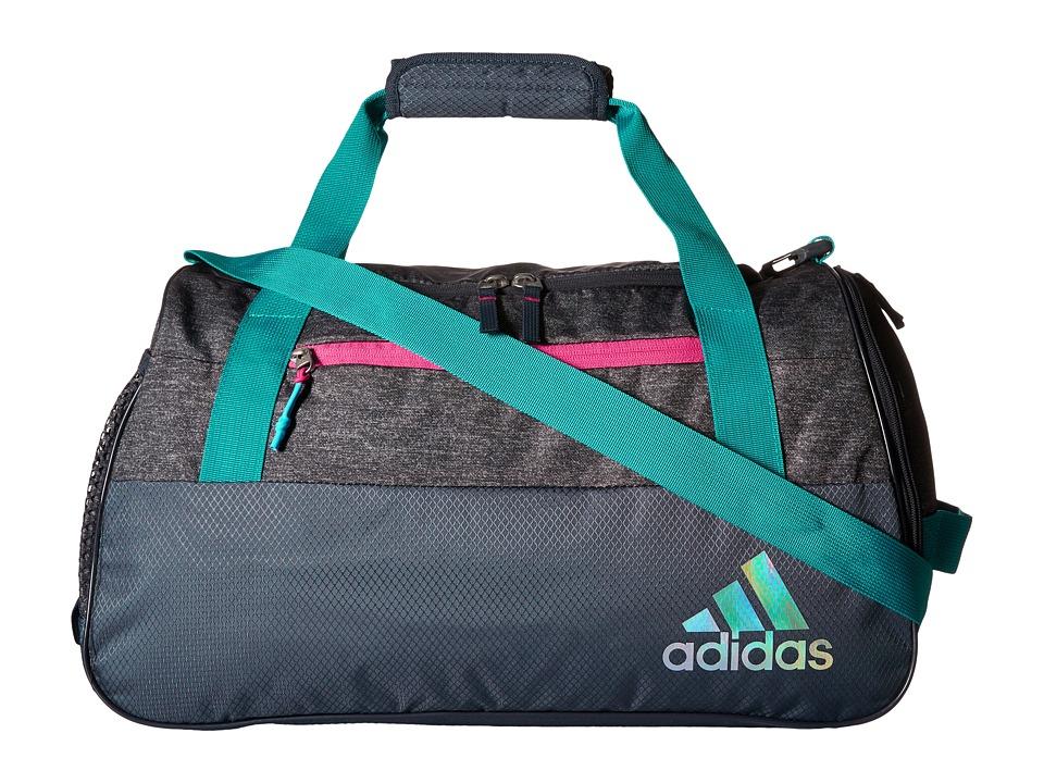 adidas - Squad III Duffel (Grey Heather/Deepest Space/Solar Mint/Solar Pink) Duffel Bags