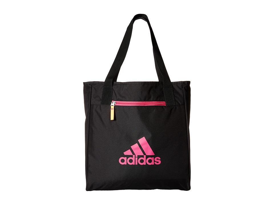 adidas - Studio II Tote (Black/Shock Pink Space Dye/Shock Pink/Solar Gold) Tote Handbags