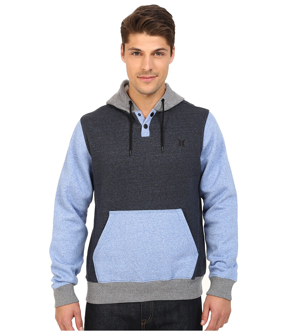 Hurley - Getaway Fleece Pull On (Obsidian) Men's Sweatshirt
