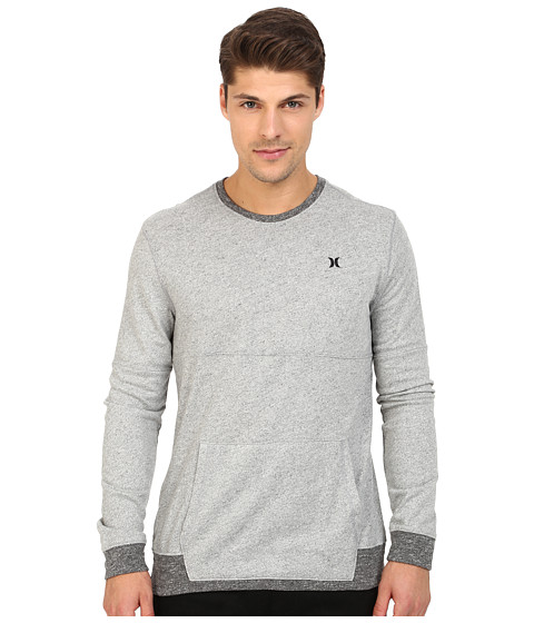 Hurley - Wilson Long Sleeve Crew (Wolf Grey) Men