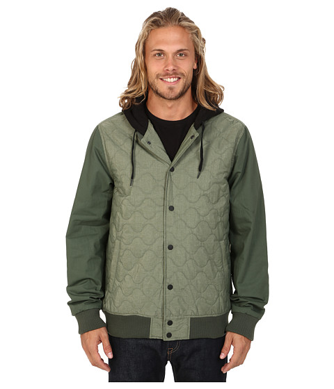 Hurley - All City Rally Jacket (Carbon Green) Men