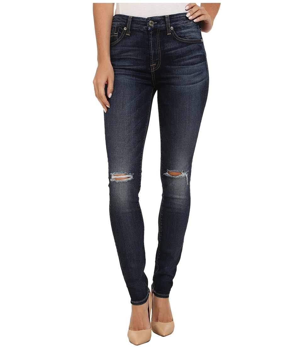 7 For All Mankind - Mid-Rise Skinny in Marie Vintage Blue 2 (Marie Vintage Blue 2) Women's Jeans