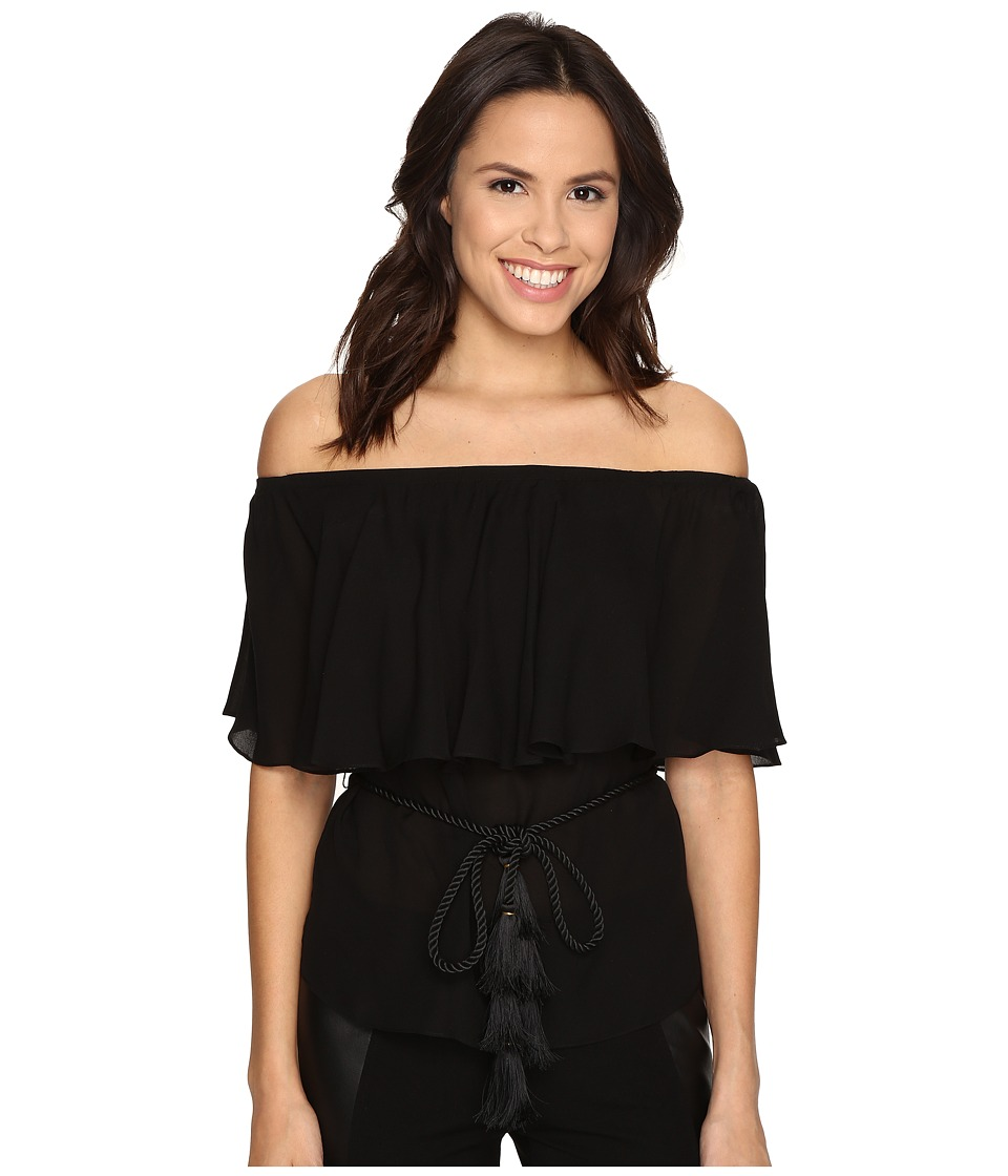Rachel Zoe - Mardi Off Shoulder Top (Black) Women's Blouse
