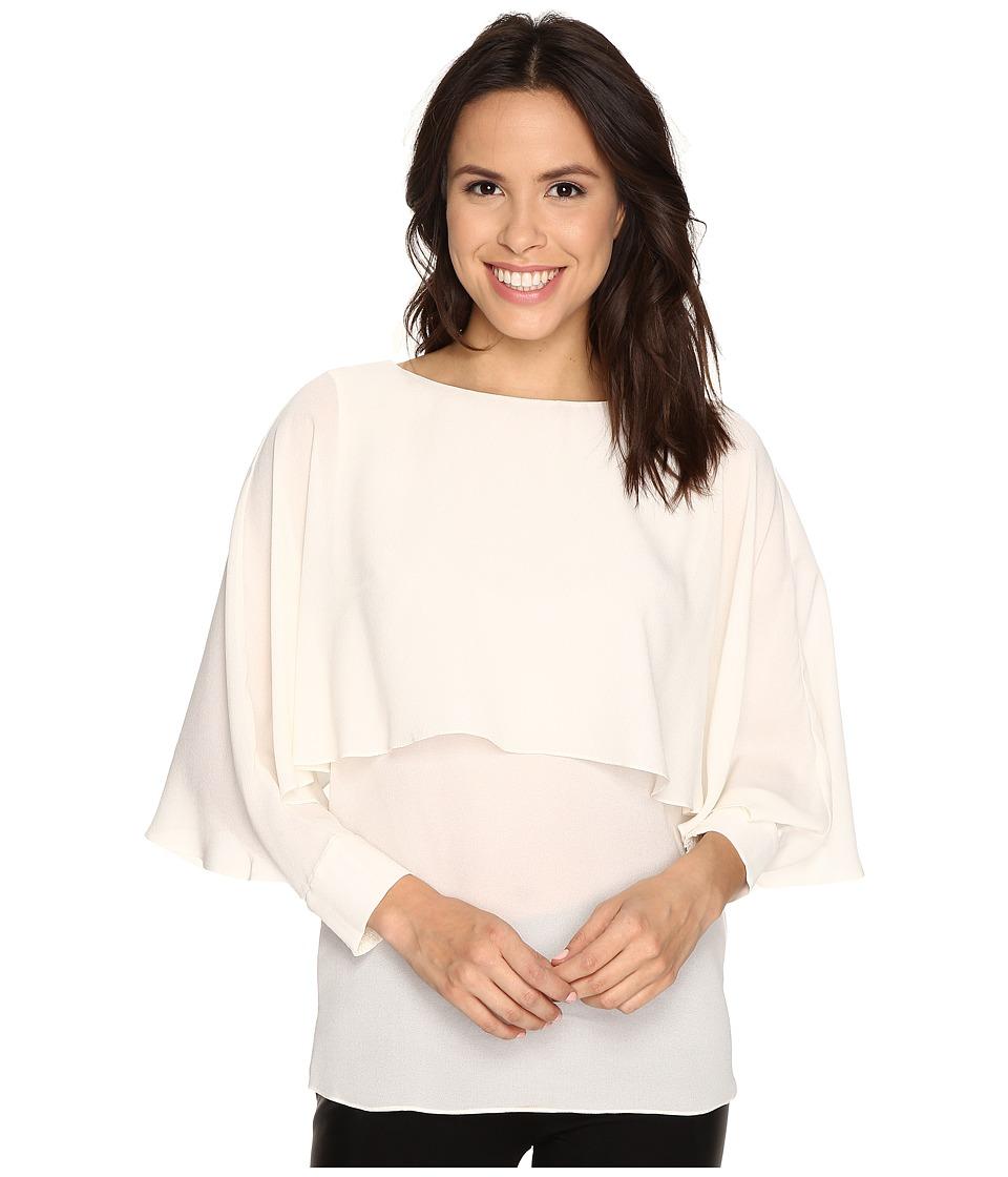 Rachel Zoe - Reine Tiered Top (Ecru) Women's Long Sleeve Pullover