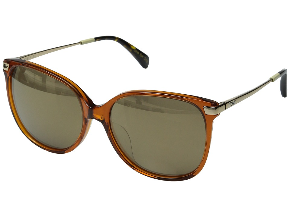 TOMS - Sandela 201 (Auburn Crystal) Fashion Sunglasses