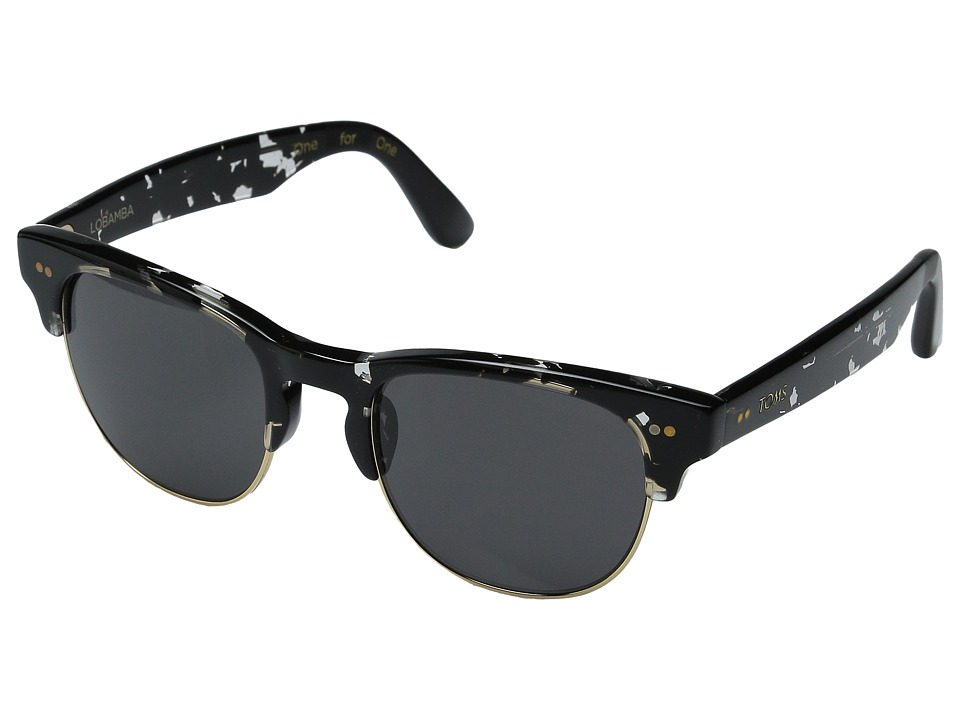 TOMS - Lobamba (Clear/Black Tort) Fashion Sunglasses