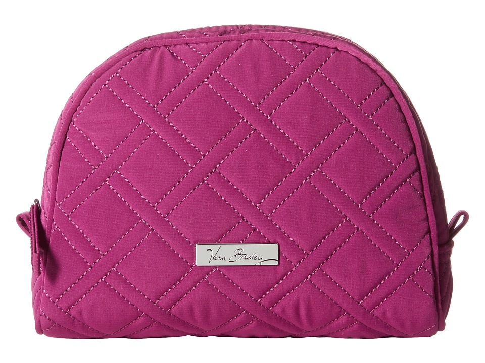 Vera Bradley Luggage - Medium Zip Cosmetic (Plum) Cosmetic Case