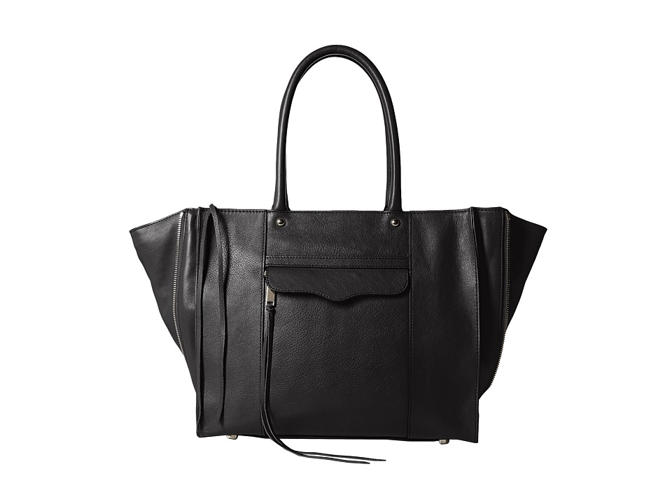 Rebecca Minkoff - Side Zip Medium Mab Tote (Black) Tote Handbags