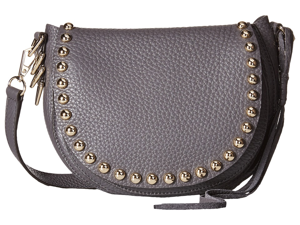 Rebecca Minkoff - Unlined Saddle Bag (New Grey) Cross Body Handbags