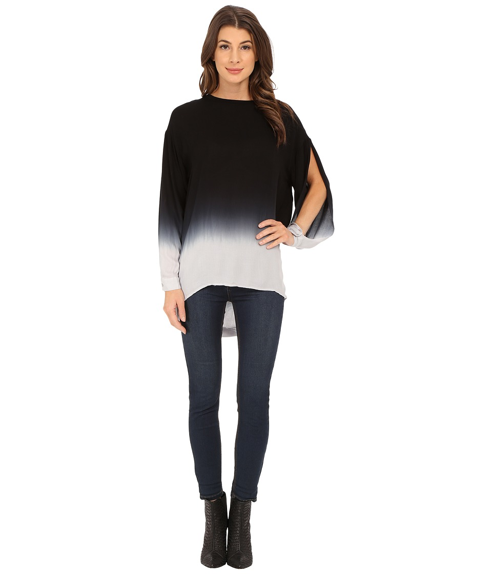 Young Fabulous & Broke - Anya Top (Black/Grey Ombre) Women's Blouse