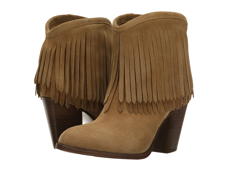 Frye - Ilana Fringe Short (Biscuit) Women's Shoes