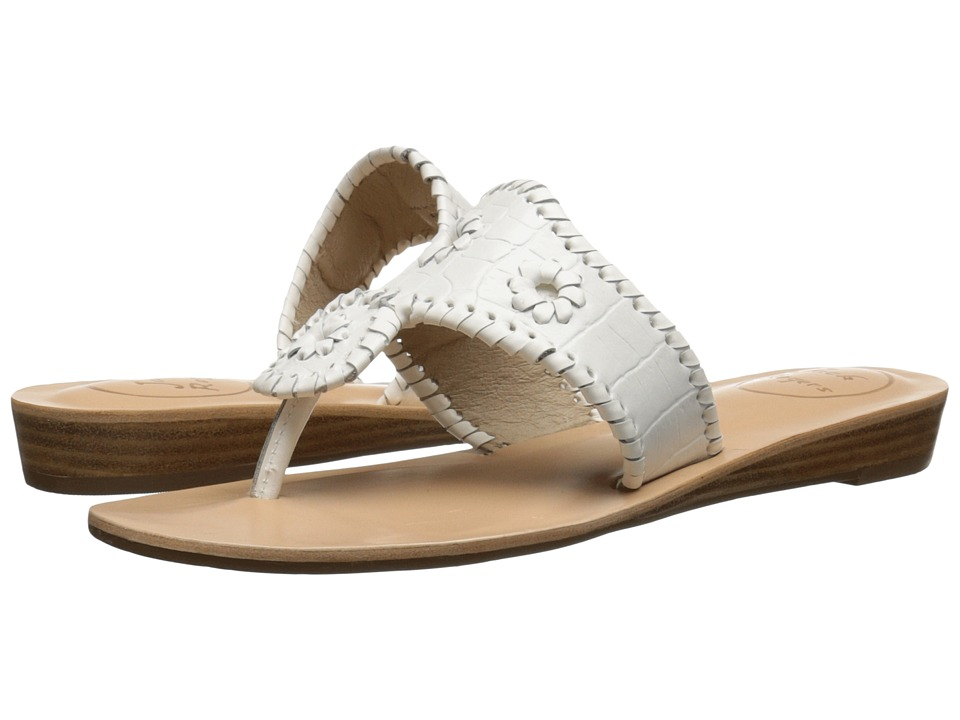 Jack Rogers - Cara Croco (White) Women's Sandals