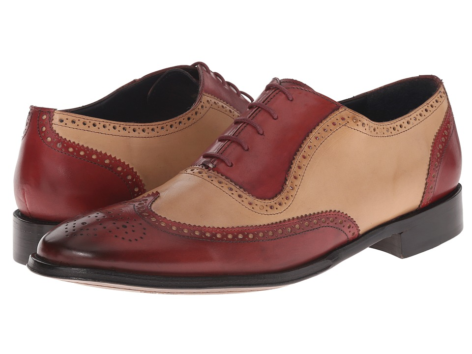 Messico - Capuchino (Cherry/Bone Leather) Men's Dress Flat Shoes
