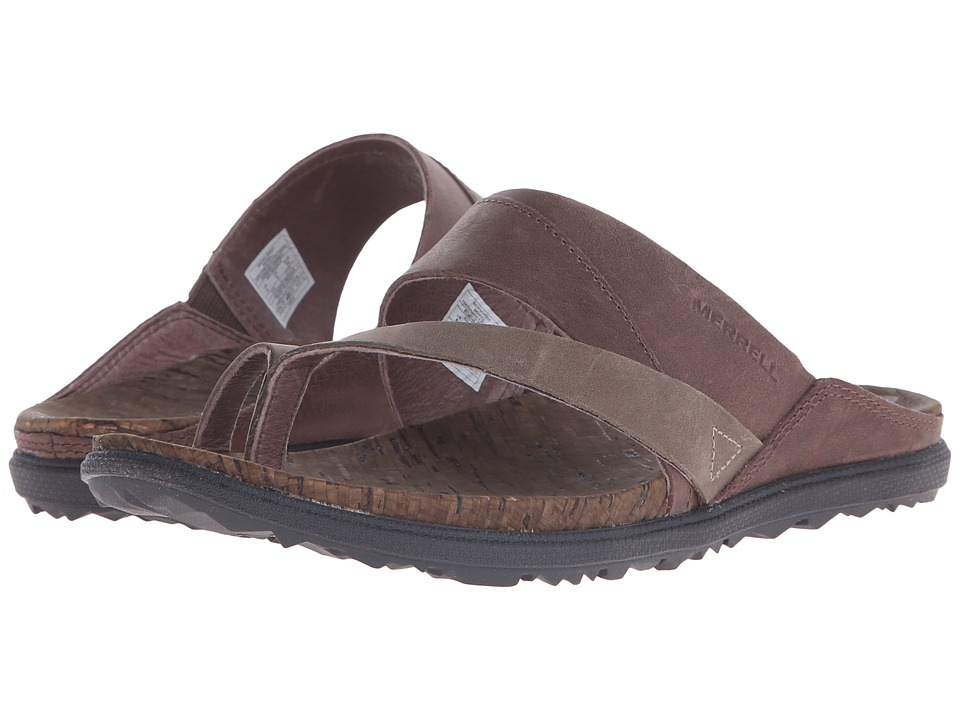 Merrell - Around Town Thong (Brown/Green) Women's Shoes