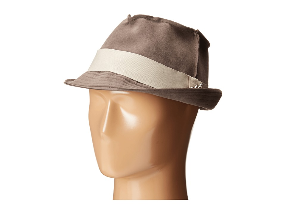 CARLOS by Carlos Santana - Fedora with Grograin Trim (Grey) Fedora Hats