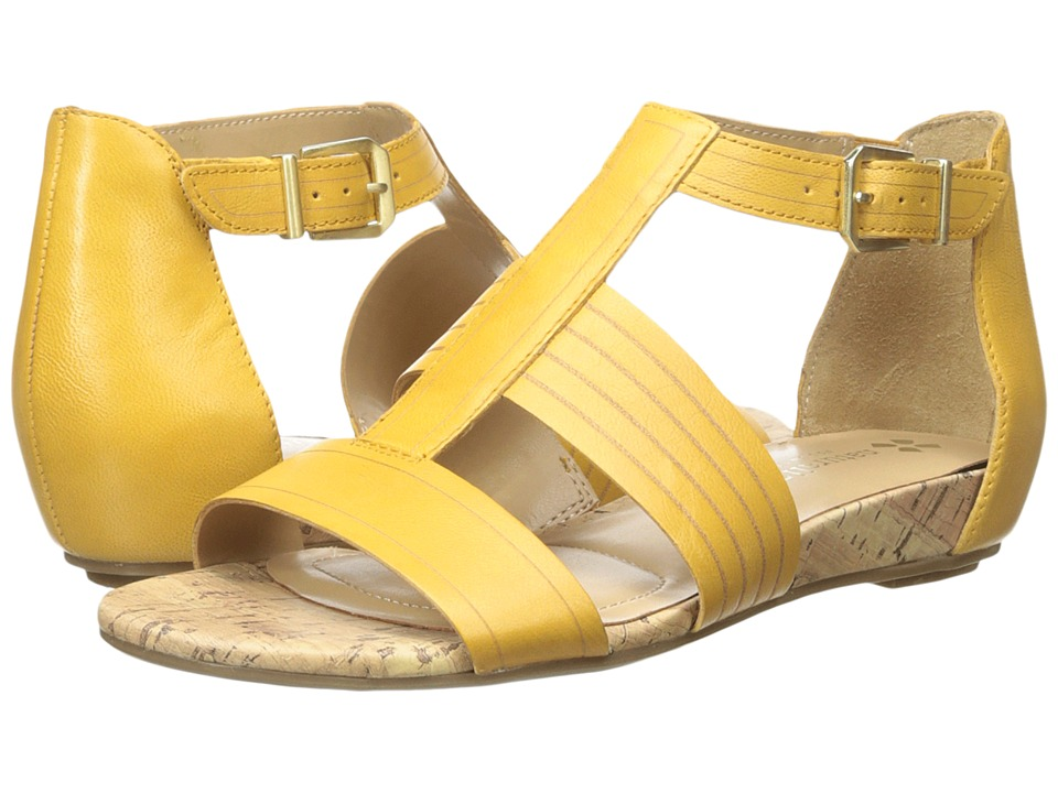 Naturalizer - Longing (Saffron Yellow Leather/Cork Footbed) Women's Sandals