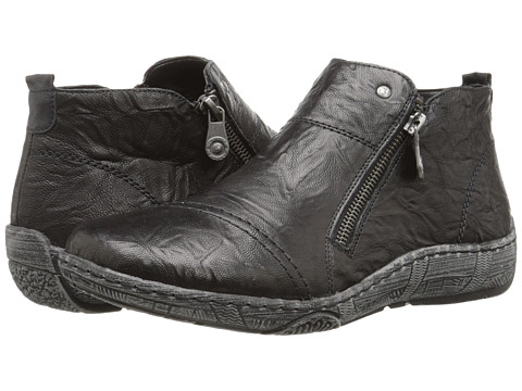 Rieker - D3878 Thekla 78 (Black/Black) Women's Flat Shoes