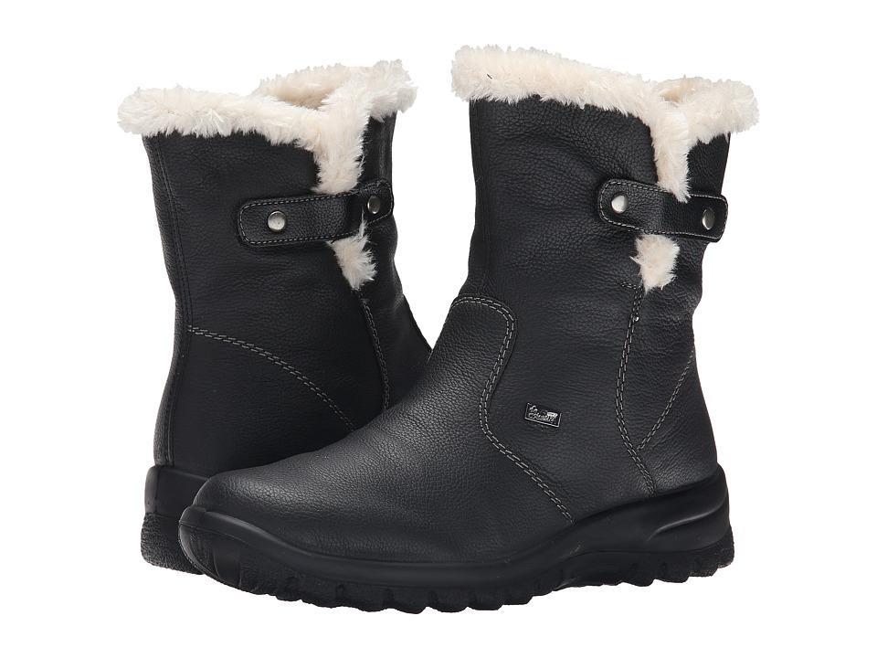 Rieker - Z7182 Eike 82 (Schwarz/Schwarz/Bianco) Women's Flat Shoes