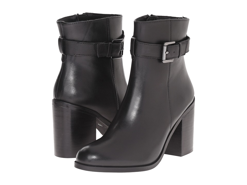 Steve Madden - Porshia (Black Leather) Women