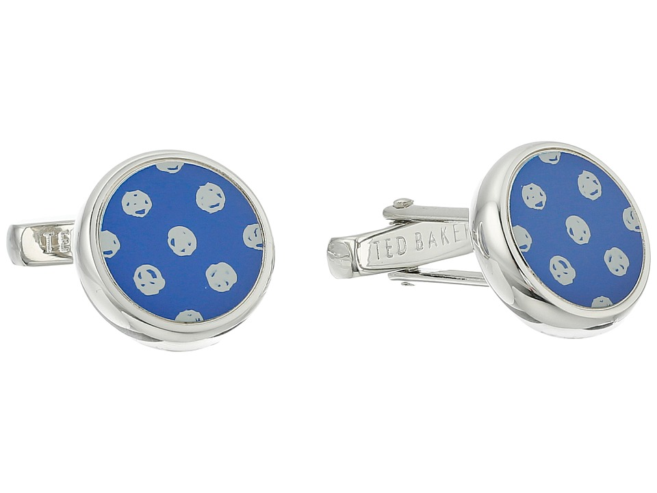 Ted Baker - Ditcuff Spot Cufflinks (Blue) Cuff Links