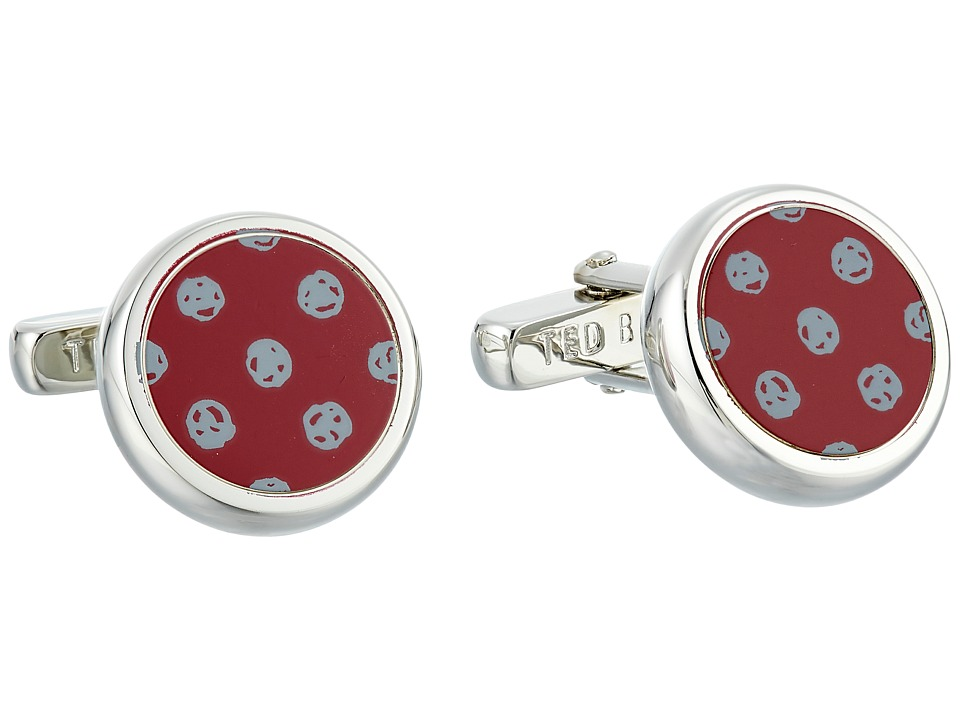Ted Baker - Ditcuff Spot Cufflinks (Oxblood) Cuff Links