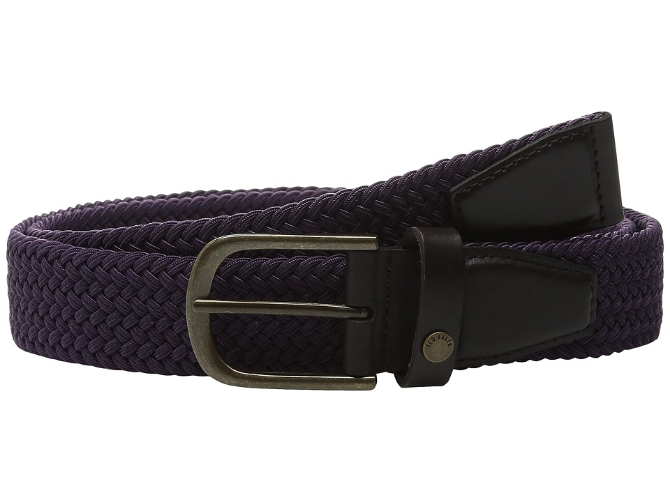 Ted Baker - Lastlaf Block Colour Elastic Belt (Purple) Men's Belts