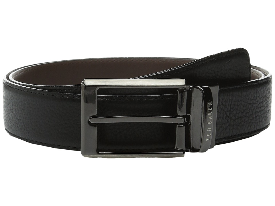 Ted Baker - Revell Stitched Reversible Belt (Black) Men's Belts