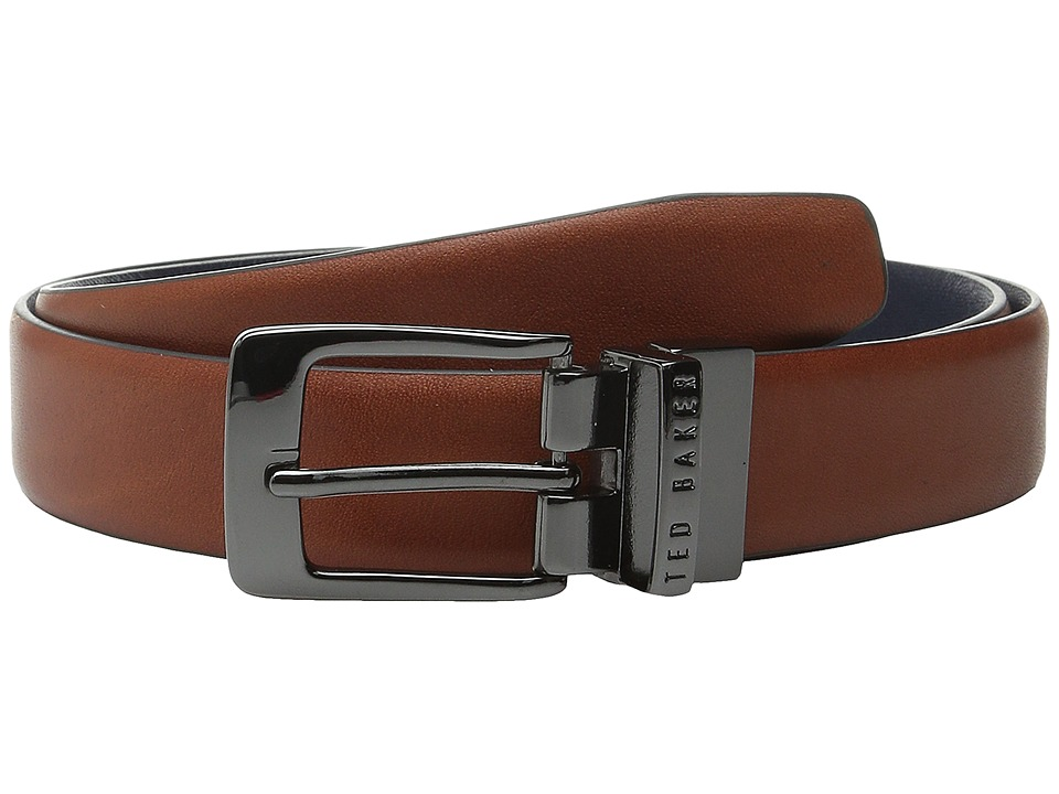 Ted Baker - Tweetoo Reversible Cross Grain Belt (Tan) Men's Belts