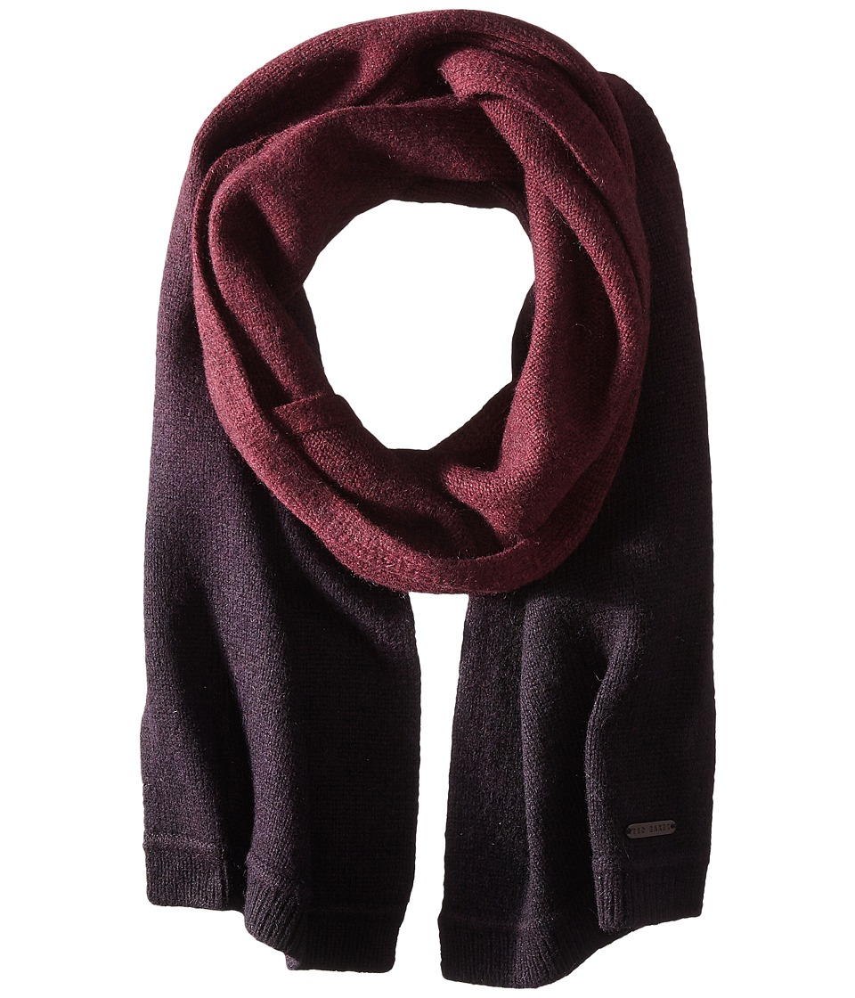 Ted Baker - Adznek Sprayed Ombre Scarf (Dark Red) Scarves