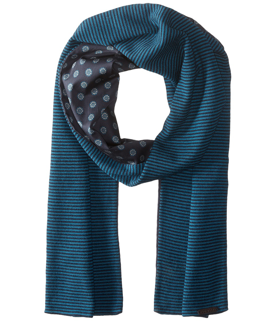 Ted Baker - Mondee Woven and Knitted Scarf (Navy) Scarves