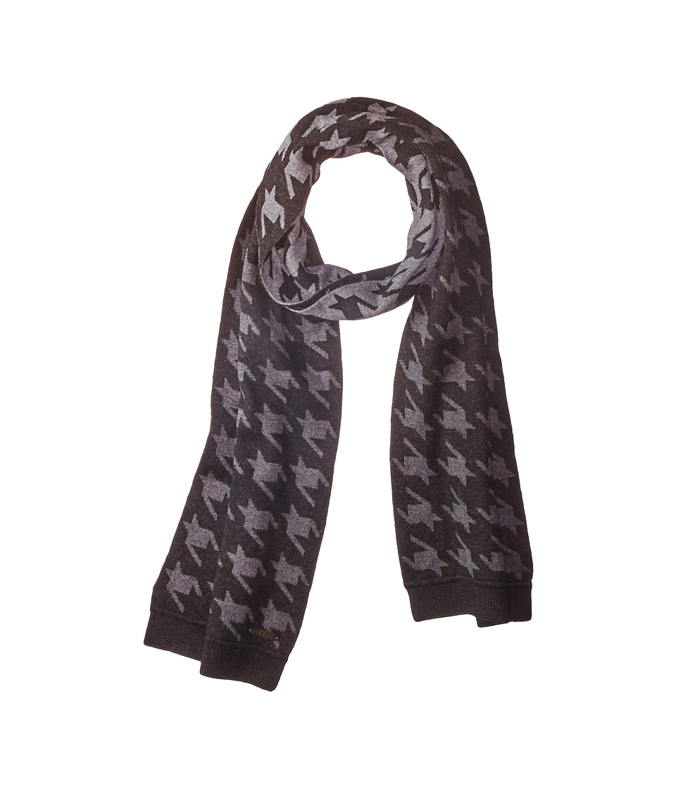 Ted Baker - Twenton Scaled Houndstooth Scarf (Charcoal) Scarves