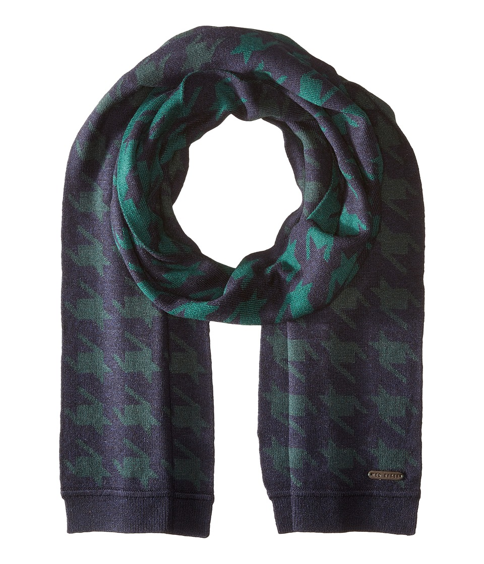 Ted Baker - Twenton Scaled Houndstooth Scarf (Navy) Scarves
