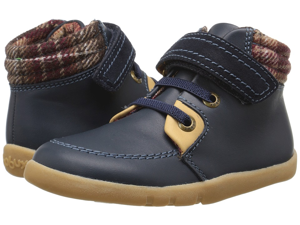 Bobux Kids - I-Walk Little Lumber Jack Boot (Toddler) (Navy) Boys Shoes