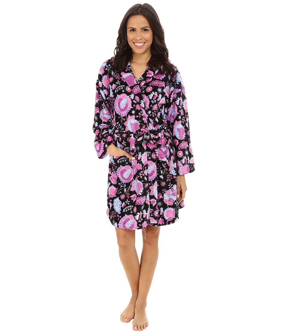 Vera Bradley - Hooded Fleece Robe (Alpine Floral) Women's Robe
