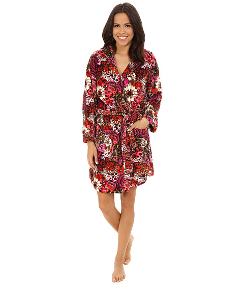 Vera Bradley - Hooded Fleece Robe (Rosewood) Women's Robe