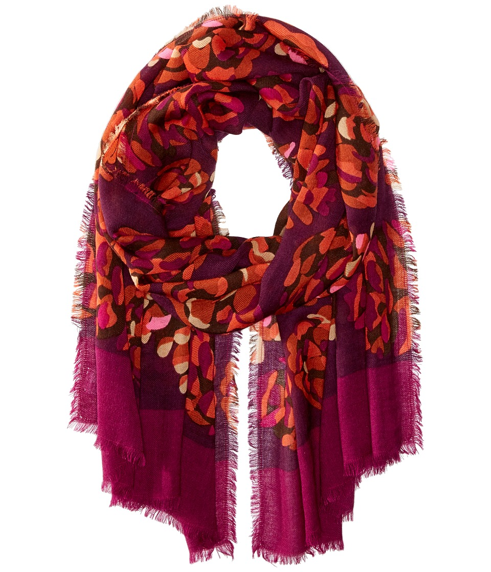 Vera Bradley - Soft Wool Scarf (Rosewood Pinecones) Scarves