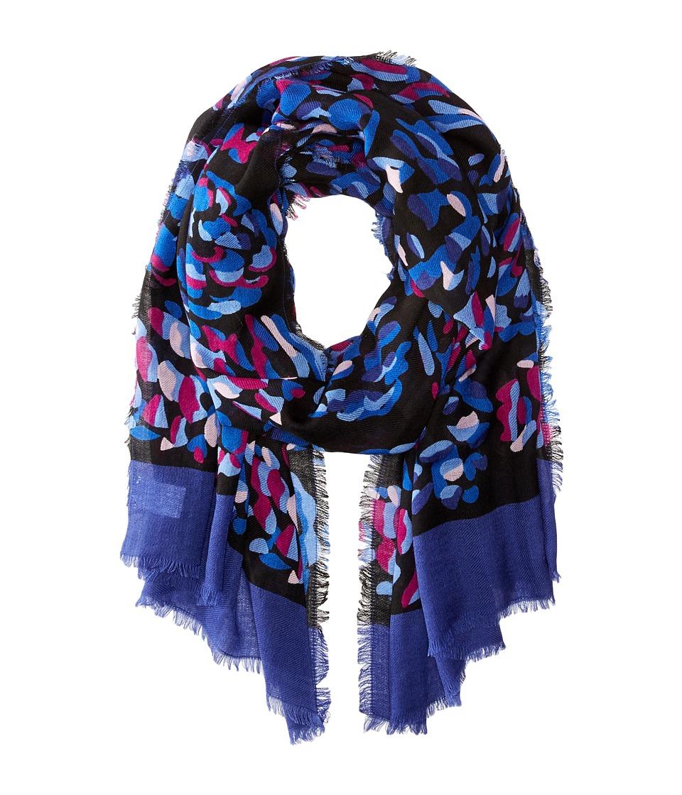 Vera Bradley - Soft Wool Scarf (Alpine Floral Pinecones) Scarves