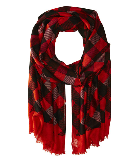 Vera Bradley - Soft Fringe Scarf (Buffalo Check Burnt Orange) Scarves