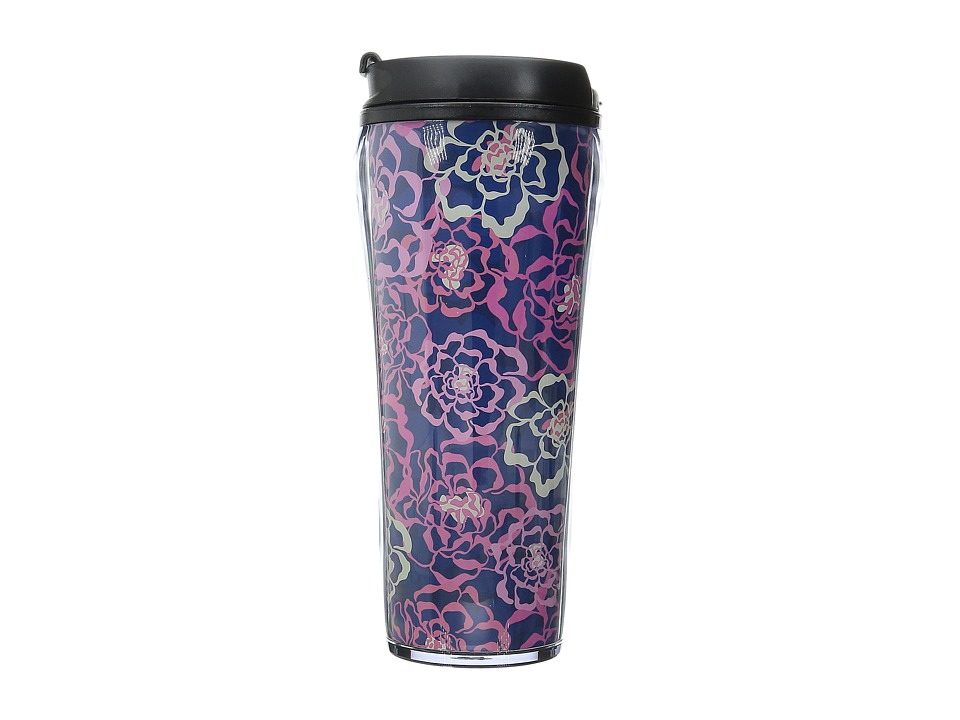 Vera Bradley - Travel Mug (Katalina Pink) Individual Pieces Cookware