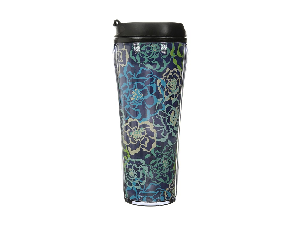 Vera Bradley - Travel Mug (Katalina Blues) Individual Pieces Cookware
