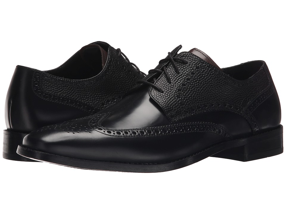 Cole Haan - Giraldo Wing Tip II (Black) Men