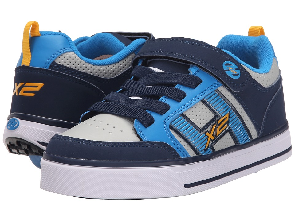 Heelys - Bolt Plus X2 (Little Kid/Big Kid) (Navy/New Blue/Lunar Grey) Boys Shoes