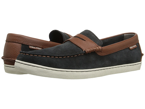 Cole Haan - Nantucket Loafer (Ash Grey Suede/Woodbury) Men's Shoes