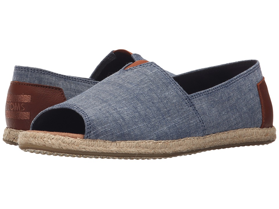 TOMS - Alpargata Open Toe (Chambray 2) Women's Flat Shoes